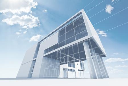 Studio di architettura di alta qualità rendering 3d Archivio Fotografico - 15374933