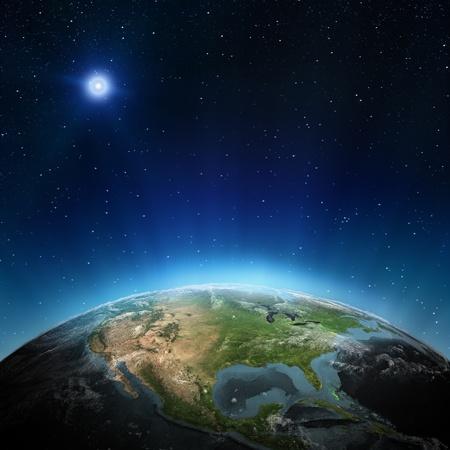 Nordamerika. Elemente dieses Bildes von der NASA eingerichtet Lizenzfreie Bilder