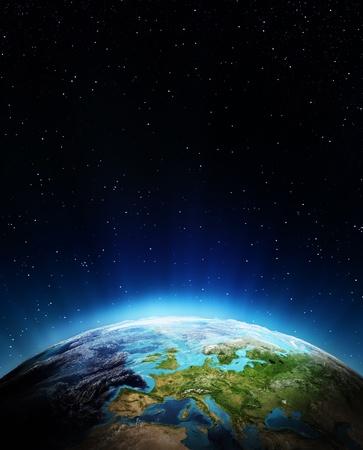 Europa aus dem All Elements dieses Bildes von der NASA eingerichtet