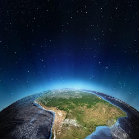 America del Sud Gli elementi di questa immagine fornita dalla NASA Archivio Fotografico - 15960882