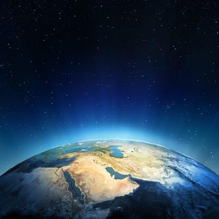 Blízký východ prvky tohoto obrázku zařízený NASA