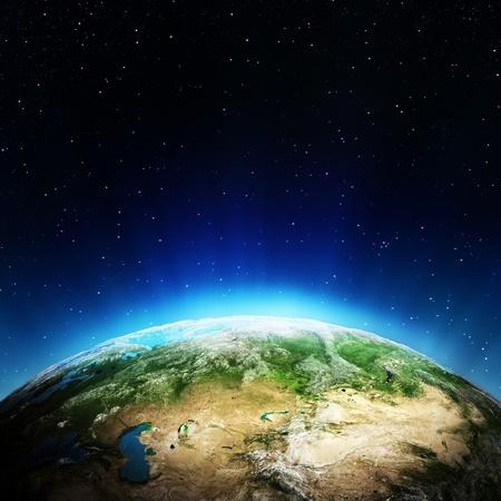 Russland aus dem Weltraum Elemente dieses Bildes von der NASA eingerichtet