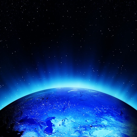 Russia at night  Elements of this image furnished by NASA Stock Photo - 15960855
