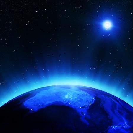 Australia in der Nacht Elemente dieses Bildes von der NASA eingerichtet