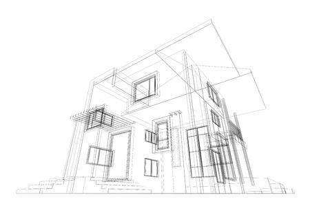 Blueprint di alta qualità di rendering 3d Archivio Fotografico - 15960707