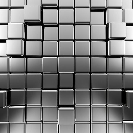 Silver abstract cubes  High quality 3d render Stock Photo - 15961150