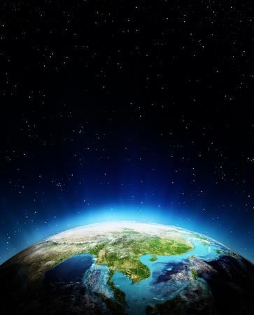 South East Asia Prvky tohoto obrázku zařízeného NASA Reklamní fotografie