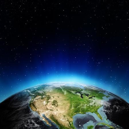USA z vesmíru. Prvky tohoto snímku poskytnutých NASA