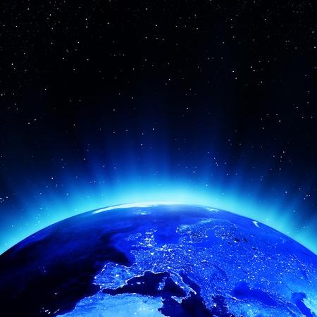 Europa bei Nacht. Elemente dieses Bildes von der NASA eingerichtet