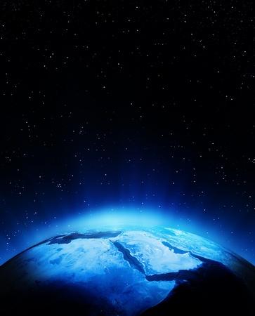 Middle East bei Nacht. Elemente dieses Bildes von der NASA eingerichtet