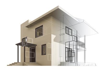 Cottage. High quality 3d render