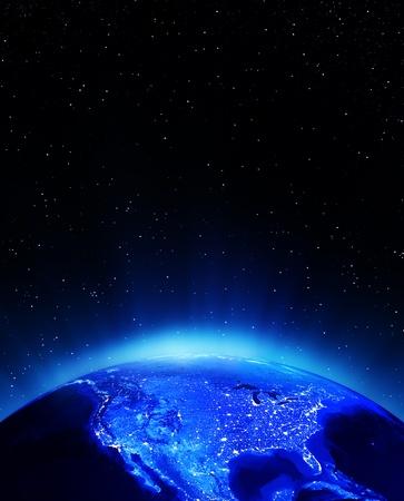 USA City Lights Prvky tohoto snímku zařízený NASA Reklamní fotografie