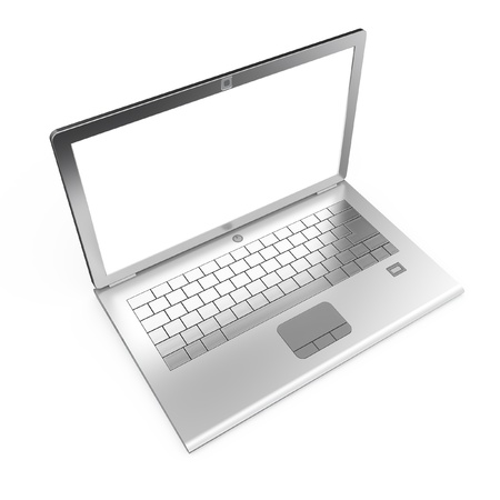 top angle: Laptop isolated  Top view 3d render