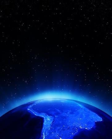 amerique du sud: Am�rique du Sud � des �l�ments de nuit de cette image fournie par la NASA Banque d'images