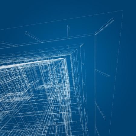Architecture concept. 3d render image photo