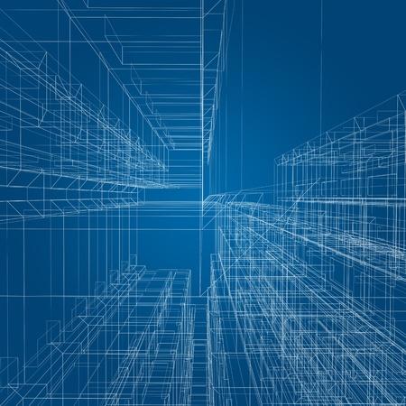 Architecture construction  3d render image photo
