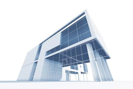case moderne: Architettura costruzione di alta qualit? 3d casa