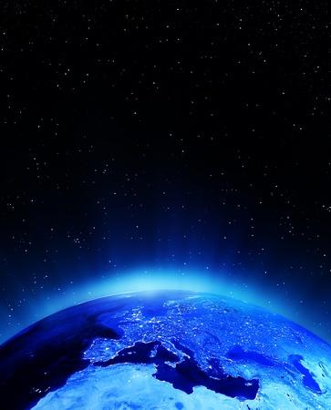 Města Evropa svítí prvky tohoto obrázku zařízený NASA