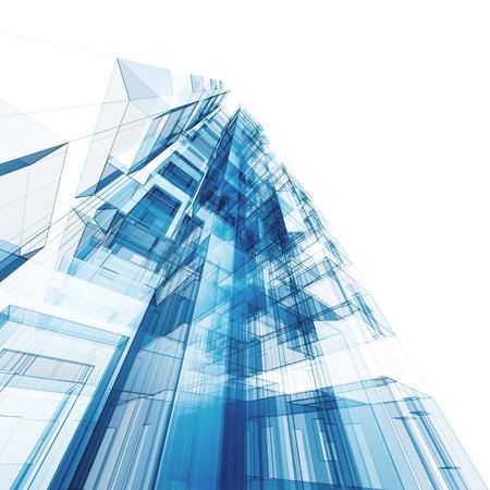 Abstrakte Architektur. Architektur und Design-Modell meiner eigenen Standard-Bild