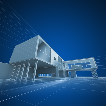 3d model: Architecture drafting  Building design and 3d model my own