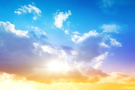 ultramarine blue: Colorful sky and sunrise  Natural landscape