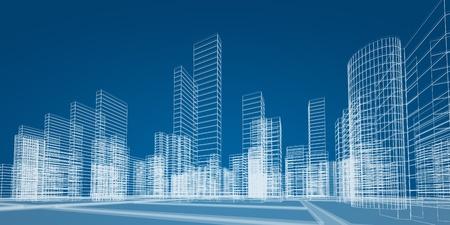 Město koncept. 3D vykreslování obrazu Reklamní fotografie
