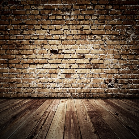 brickwalls: Vintage bricks room. All textures created by me Stock Photo