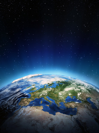 Europa dallo spazio. Elementi di questa immagine fornita dalla NASA Archivio Fotografico - 23951572
