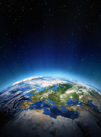 L'Europe de l'espace. Éléments de cette image fournie par la NASA Banque d'images - 23951572