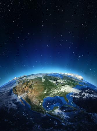 宇宙からの北アメリカ。このイメージの NASA によって家具の要素 写真素材