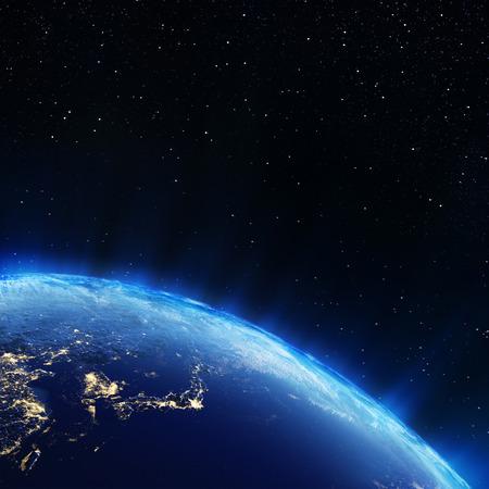 Japon depuis l'espace. Éléments de cette image fournie par la NASA Banque d'images - 23951625