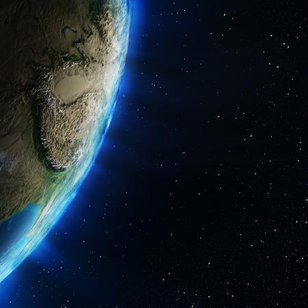 estratosfera: �sia estratosfera topografia. Elementos desta imagem equipada pela NASA
