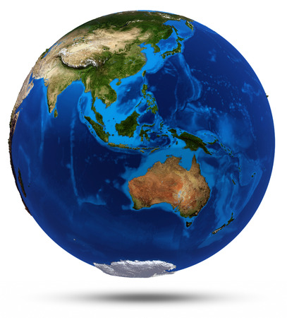 Planet Earth 3d render. Elements of this image furnished by NASA photo