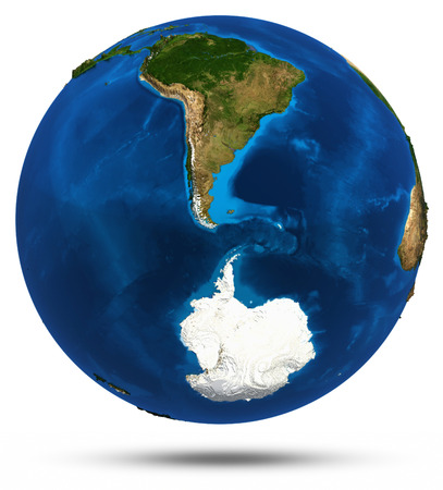 south space: South America 3d isolated. Elements of this image furnished by NASA Stock Photo
