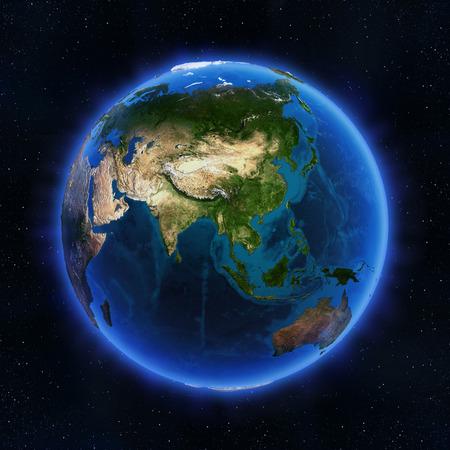 Asia zeměkoule. Prvky tohoto obrázku zařízený NASA