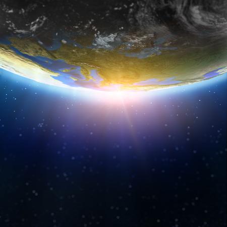 Evropa rozostřeným prostor pozadí. Prvky tohoto snímku zařízený NASA