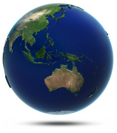Jihovýchodní Asie a Oceánie. Prvky tohoto obrázku zařízený NASA