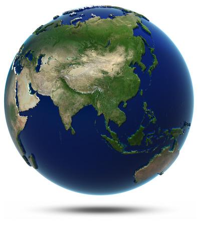 Asie carte du monde. Éléments de cette image fournie par la NASA Banque d'images - 24031845