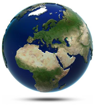 ヨーロッパおよびアフリカ。NASA から提供されたこのイメージの要素