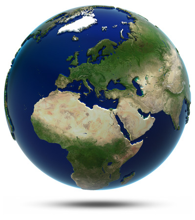 Europa und Afrika. Elemente dieses Bildes von der NASA eingerichtet