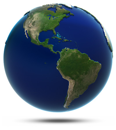 south space: America world map. Elements of this image furnished by NASA Stock Photo