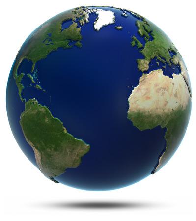 宇宙からの大西洋。このイメージの NASA によって家具の要素 写真素材