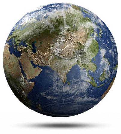 Earth globe - Asia.