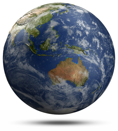 Earth globe - Australia and Oceania.