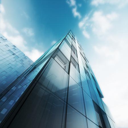 Transparente Abstrakte Gebäude. Gebäude Design Und 3D Modell Meiner Eigenen  Photo