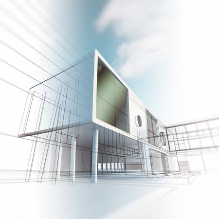 Architecture Concept. La conception des bâtiments et modèle 3d ma propre Banque d'images - 25363664