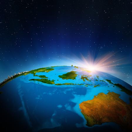 オーストラリアとオセアニア宇宙から。