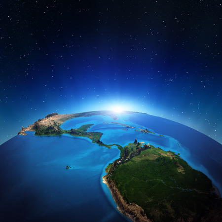 Central America from space.