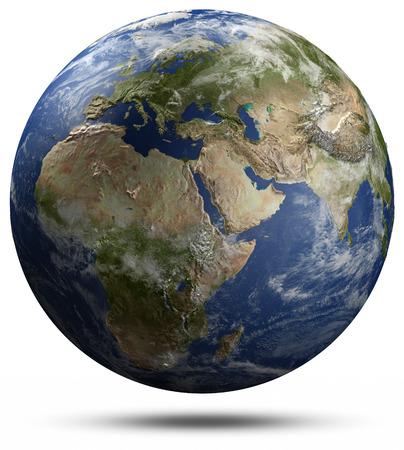 real world: Earth globe - Africa, Europe and Asia.