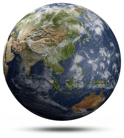 oceania: Earth globe - Asia and Oceania.